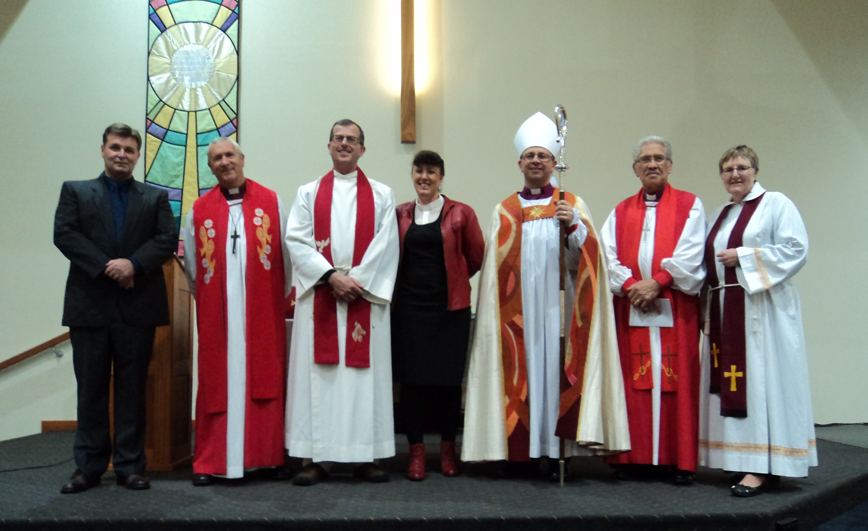 Clergy at Don Moses' installation